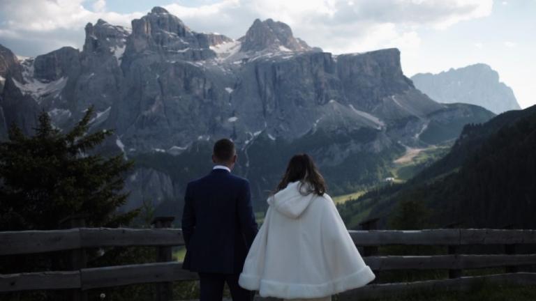 wedding videographer colfosco alto adige