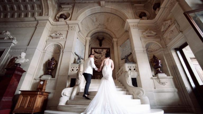 wedding videographer chateau de chantilly paris